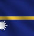 Nauru flag vector image vector image