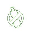 no plastic go green zero waste vector image