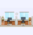 office interior with workstation vector image vector image