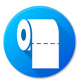 paper roll blue circle icon vector image