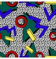 pattern 80s memphis vector image
