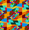 Pattern color mosaic vector image