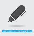 pen icon simple sign for web site and mobile app vector image vector image