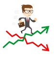Raise and fall of business indicators vector image