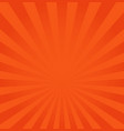 rays background orange or red vector image