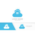 real estate and cloud logo combination house vector image