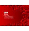 red polygon abstract background with copy space vector image vector image