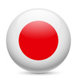 Round glossy icon of japan vector image vector image