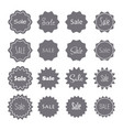 sale banners set radial sanburst design icons vector image vector image