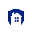 save home logo - house with window and chimney on vector image vector image