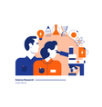 Science lab scientific research laboratory man and vector image