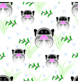 seamless emperor tamarin vector image vector image