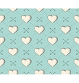 Seamless pattern with heart and arrows in vintage vector image
