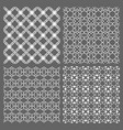 set four seamless patterns in arabic style vector image vector image