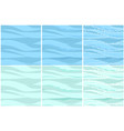 set seamless water patterns in 3 steps vector image vector image