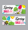 spring sale banner template with colorful vector image vector image
