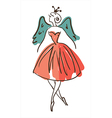 Stylised dancing woman vector image vector image