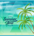 summer time beach holiday lovely background vector image vector image