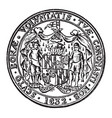 the great seal of the state of maryland vintage vector image vector image