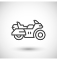 Touring motorcycle line icon vector image
