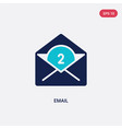 two color email icon from blogger and influencer vector image vector image