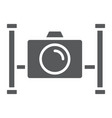 underwater camera glyph icon diving vector image vector image