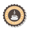venice coffee best flavour coffee cup circle backg vector image