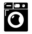washing machine icon simple black style vector image vector image