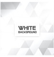 white triangle mosaic white background imag vector image