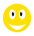 yellow smiley face vector image