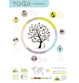 Yoga tree infographic for your design vector image