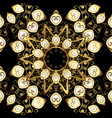 seamless classic black and golden pattern vector image