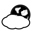 cloudy weather vector image