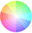 palette pastel colors pie chart vector image