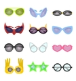 Set of fashion glasses vector image