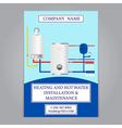 Corporate identity template design Boiler installa vector image
