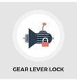 Gear lever lock flat icon vector image