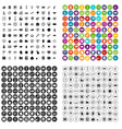 100 problem solving icons set variant vector image