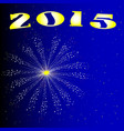 2015 new year firework vector image vector image
