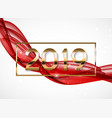 2019 abstract new year vector image vector image