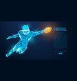 abstract football player rugamerican vector image vector image