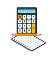 accounting flat icons calculator with notebook vector image vector image