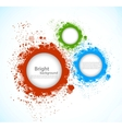 Background with grunge circles vector image