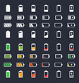 battery charging icon set vector image