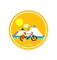 Bicycle near the mountain Bicycle tourism vector image