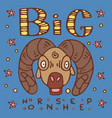 big horn sheep poster vector image