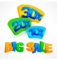 Big sale labels vector image vector image