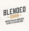blended grain vintage sans serif font design vector image vector image