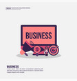 business concept for presentation promotion vector image vector image