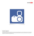 camera icon - blue photo frame vector image